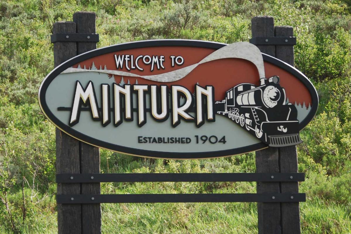 Minturn sign